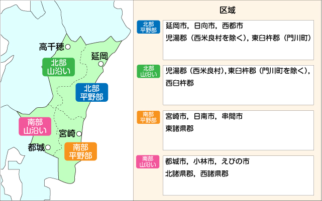宮崎県地図