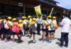 雷電くるみの里イベント 東御市交通少年団 レター作戦